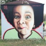 Graffiti Portrait Step by Step im Preuschenpark in Salzburg