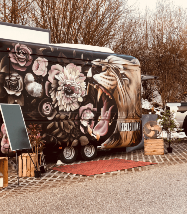 Foodtruck Mural in Mondsee